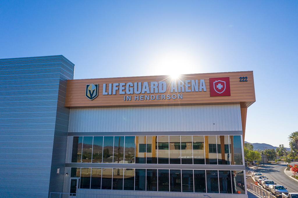 Front entrance of Lifeguard Arena